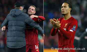 Virgil van Dijk hails captain Jordan Henderson after Liverpool go through in Champions League