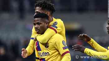 Barcelona's Fati becomes the youngest scorer in Champions League history