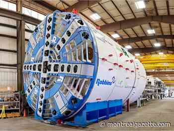 Alice the tunnel boring machine will soon be heading to Dorval