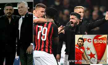 Gennaro Gattuso replaces old mentor Carlo Ancelotti at Napoli with a rocky record as a manager