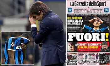 Italian press slam Romelu Lukaku and Inter Milan for going out of the Champions League