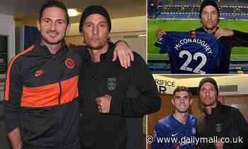 Matthew McConaughey brings star quality to Stamford Bridge as he meets Chelsea stars