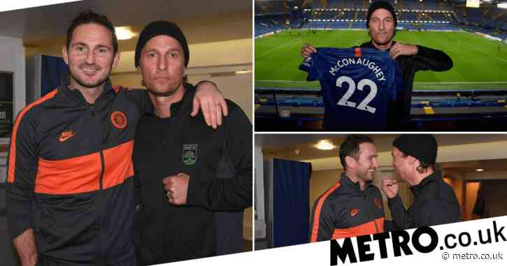 Matthew McConaughey lucky charm for Chelsea as he's in stands for Champions League win