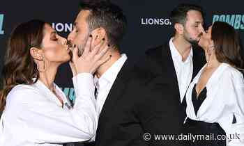 Ashley Greene and Paul Khoury share passionate kiss at the Bombshell premiere in LA