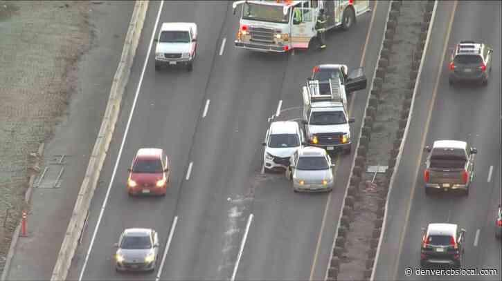 4-Car Crash On I-70 Near Colorado Blocking Lanes During Morning Rush
