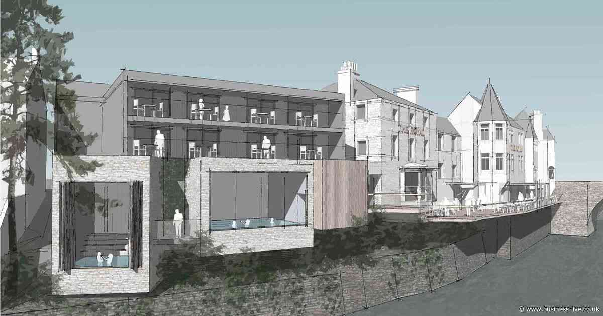 Riverside plunge pool plans for Llangollen hotel next to the River Dee