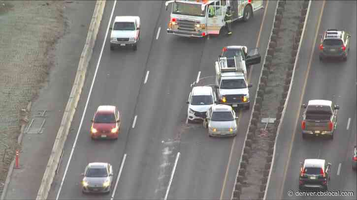 4-Car Crash On I-70 Near Colorado Bloced Lanes During Morning Rush
