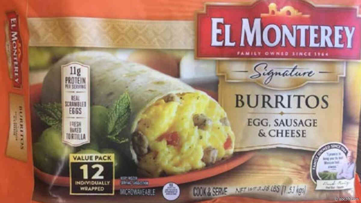 Ruiz Food recalls frozen breakfast burritos possibly contaminated with plastic