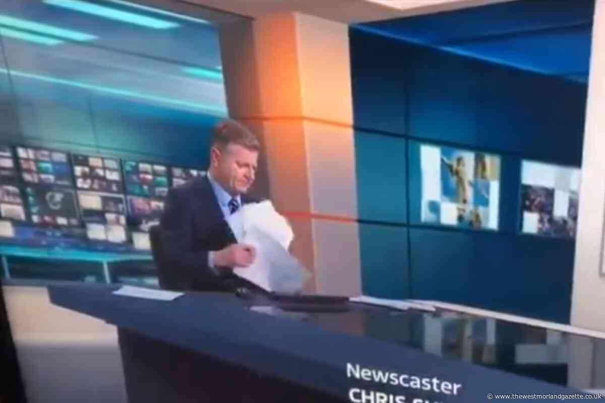 ITV presenter goes viral after awkward paper shuffle