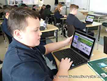 Sudbury students learning to code