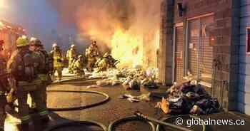 Burnaby firefighters battle 3-alarm blaze inside commercial building