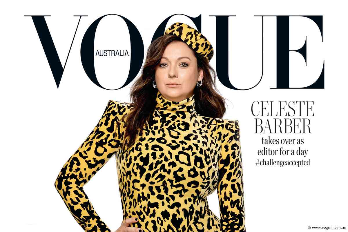 Celeste Barber takes over as editor of Vogue Australia for the day
