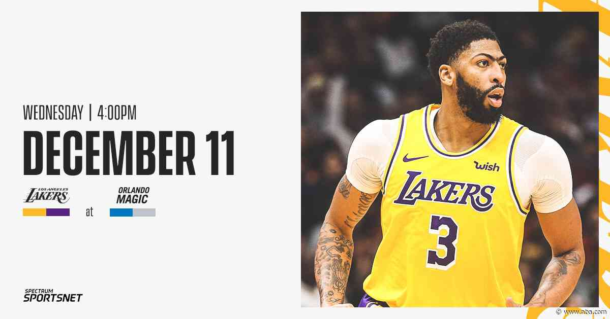 3 Things to Know: Lakers at Magic (12/11/19)