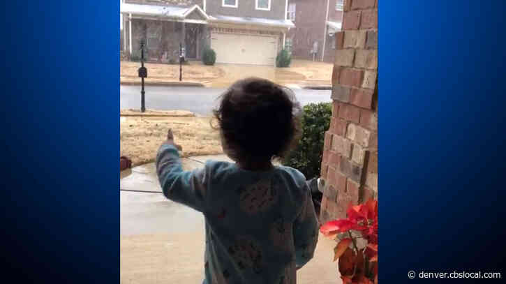 'Wow': Watch Toddler's Adorable Reaction To First Snow