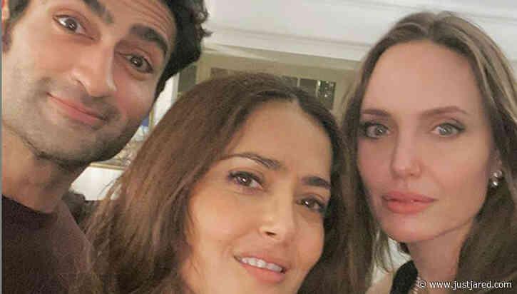 Salma Hayek Counts Angelina Jolie & Kumail Nanjiani as Friends Amid 'Eternals' Filming