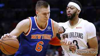 Report: Knicks offered to trade Kristaps Porzingis to Pelicans for Anthony Davis