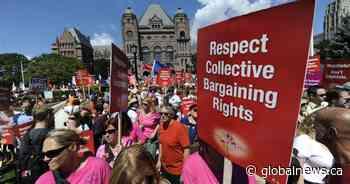Teachers' unions to announce legal challenge against Bill 124 Thursday