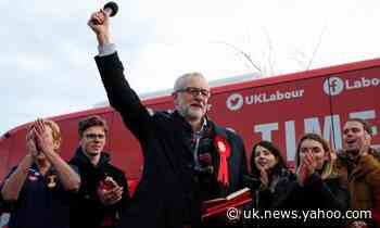 Jeremy Corbyn tells Labour to go 'flat out' in final pre-election push