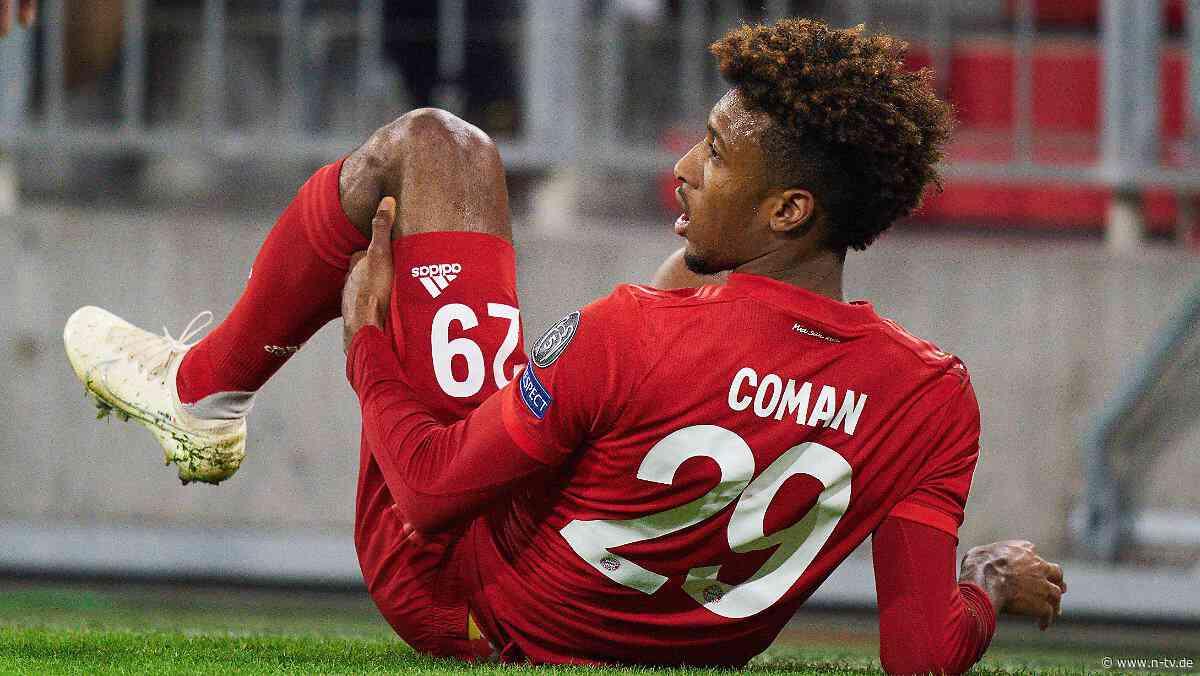 Erst Tor, dann raus: FC Bayerns Coman humpelt vom Platz