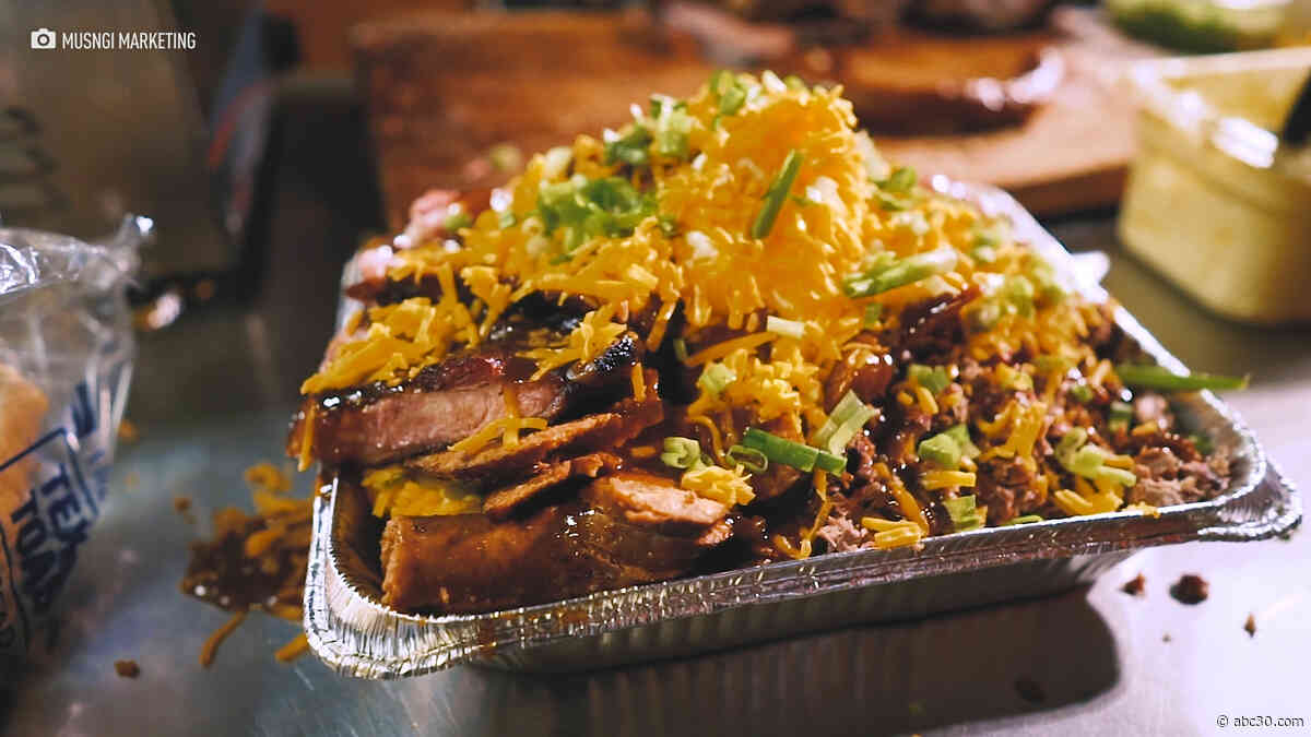 Grab your friends to take on this 10 lb. baked potato
