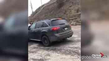 Stolen SUV rams vehicle following alleged Kelowna assault