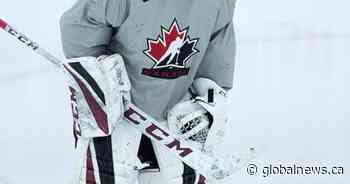 Guelph Storm's Nico Daws fighting for a spot in Canada's world junior crease