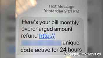 Beware phony text messages offering refunds and other freebies, police say