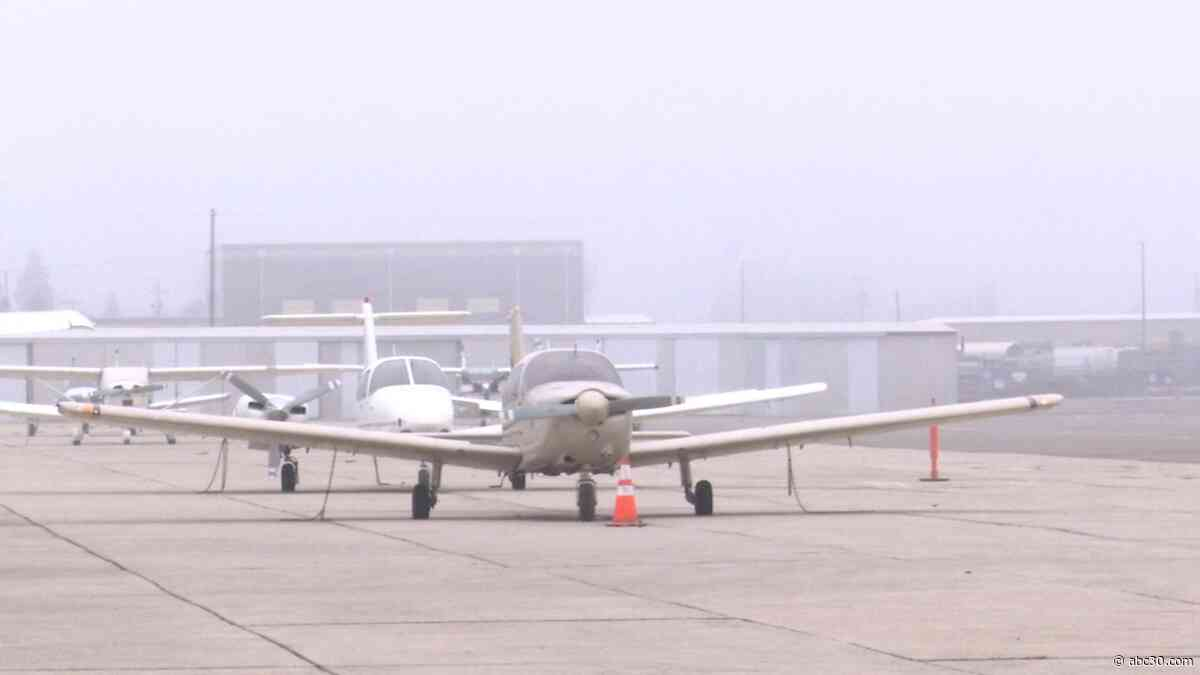 Small planes grounded at Fresno Chandler Executive Airport due to fog