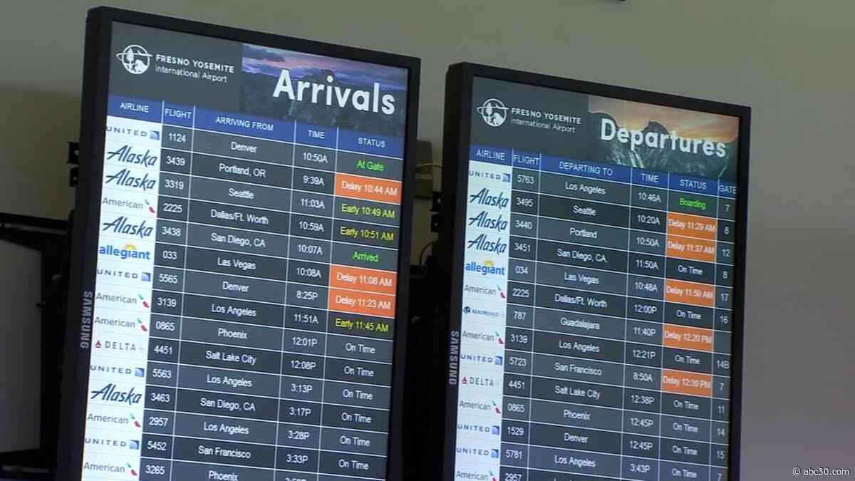 Flights delayed, canceled due to fog at Fresno Yosemite International Airport