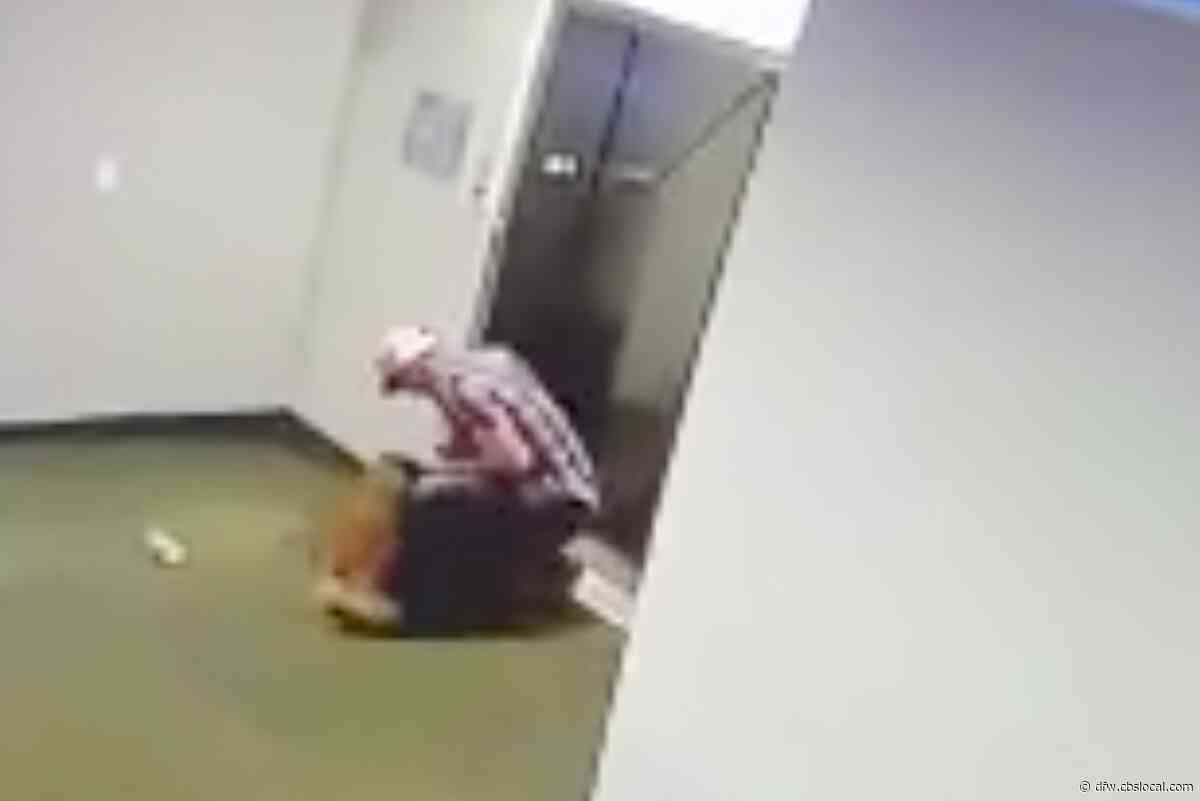 Texas Man Saves Dog After Leash Caught In Elevator Doors