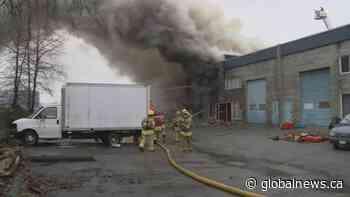 Huge fire burns in Burnaby