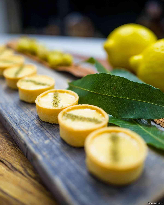 Lemon aspen curd tartlets