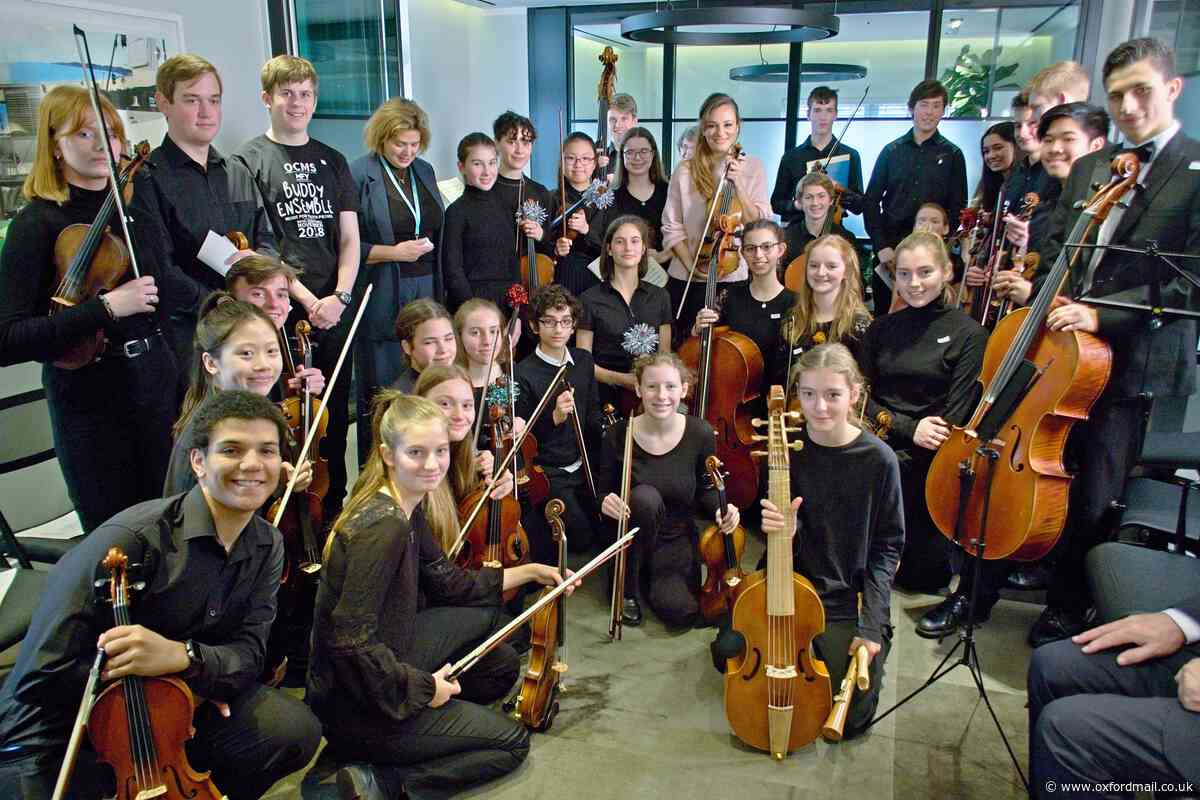 Acclaimed violinist Nicola Benedetti gives young orchestra her top tips at Bicester Village