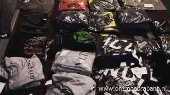 Berg valse merkkleding in beslag genomen in Eindhoven, verdachte aangehouden