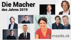 MEEDIA-Jahrbuch 2019: Das sind die erfolgreichsten Medienmacher des Jahres