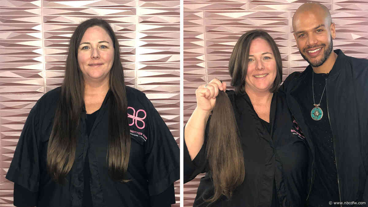 #SomethingGood: NBC 5 Photographer Donates Hair for Children in Need