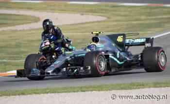 Ging Hamilton onderuit op motor van Rossi?
