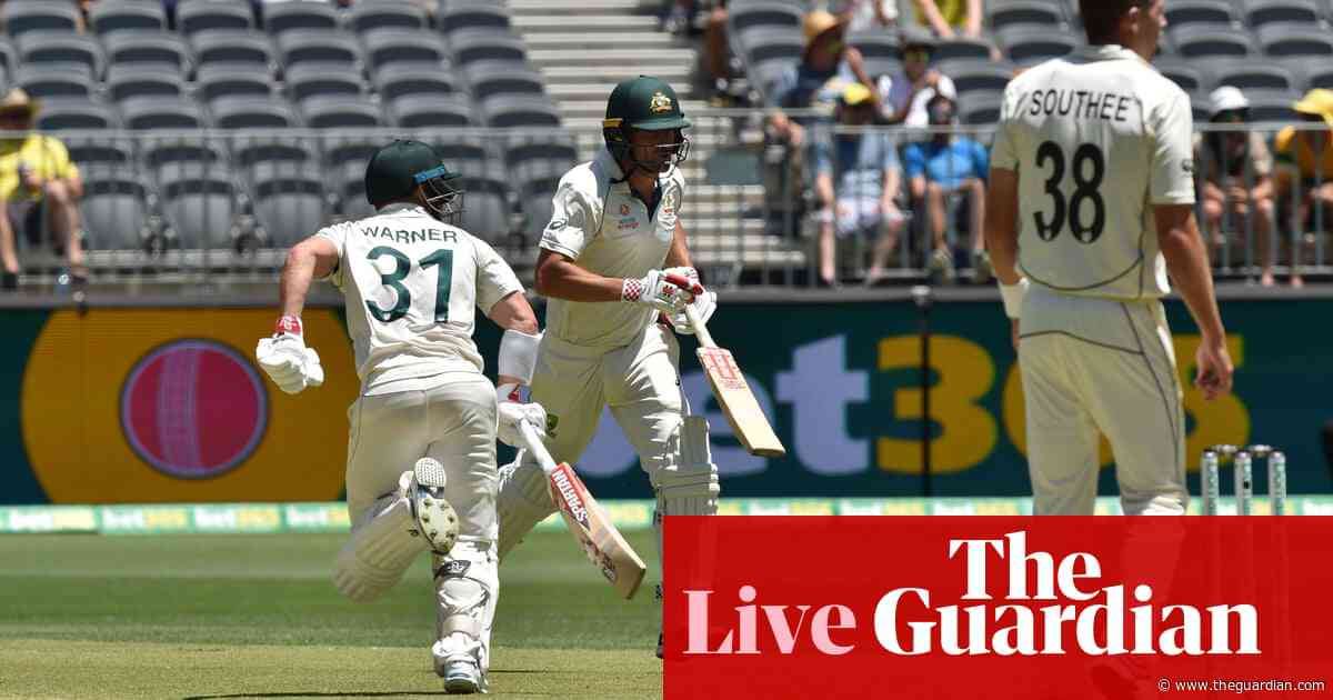Australia v New Zealand: first Test, day one – as it happened