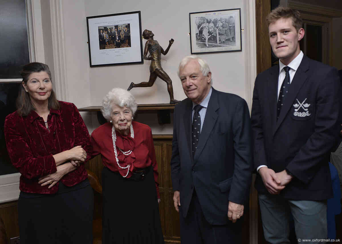 GRAY MATTER: Sir Roger Bannister is back at the club he made famous