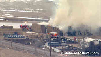 Huge Pile Of Hay On Fire At Weld County Farm