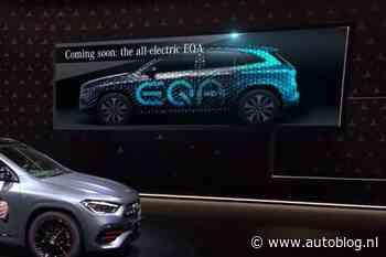 EQA wordt de volgende elektrische Mercedes