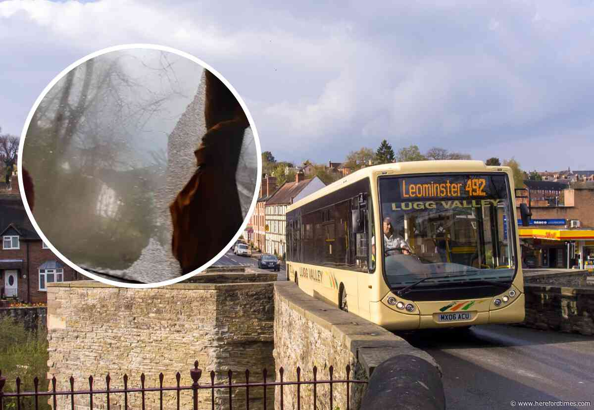 Fears for children's safety on bus with shattered glass