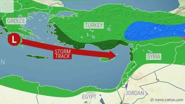 Stormy weather to slam Eastern Mediterranean through the weekend
