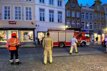 Bakkerij in Brugge geëvacueerd door rook