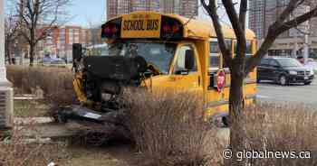 Minor injuries reported after crash involving TTC bus, school bus in Scarborough