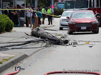 Collisions with power poles on the rise; B.C. Hydro offers tips to avoid harm