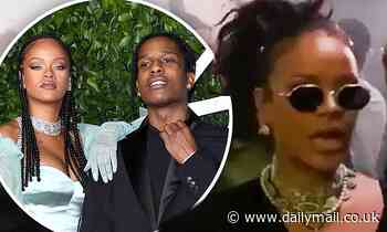Rihanna shows her support for A$AP Rocky as she attends rapper's prison-themed performance in Sweden