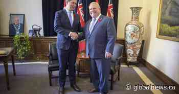 Premier Doug Ford thanks Andrew Scheer for service as federal Tory leader steps down