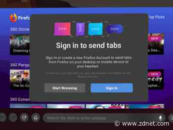 Firefox now lets you send tabs from your phone or PC to your VR headset