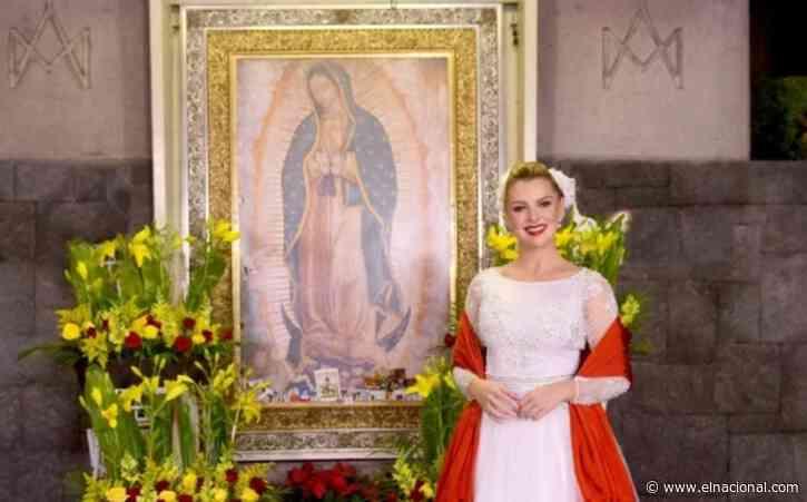 Marjorie De Sousa le cantó a la Virgen de Guadalupe en su día